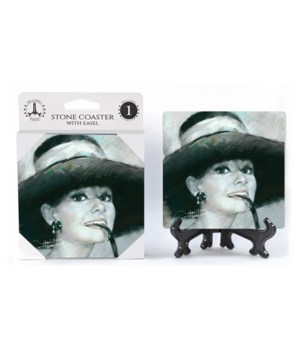 Audrey Hepburn (black & white) Coaster
