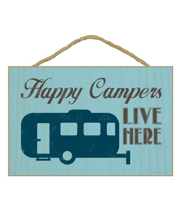 Happy Campers Wood Plaque