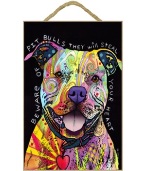 Pitbull - Beware of Pitbulls 7x10 Russo