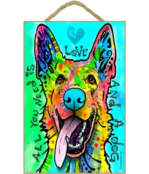 German Shepherd - All you need 7x10 Russ