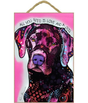 Labrador - All you(pink background) 7x10
