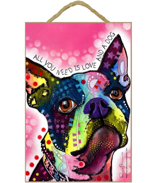 Boston Terrier - All you need 7x10 Russo