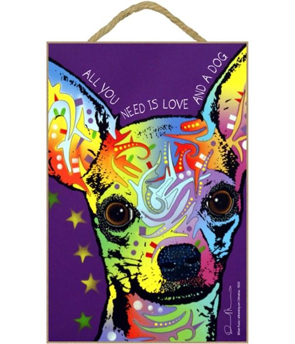 Chihuahua - All you need(purple backgrou