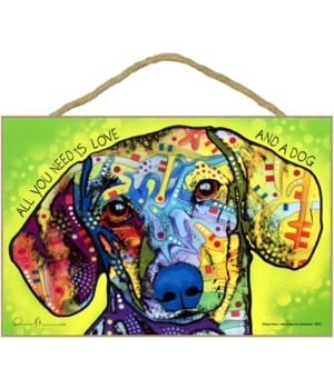 Dachshund - All you need is love 7x10 Ru