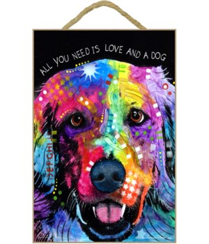 Golden Retriever - All you need  7x10 Ru