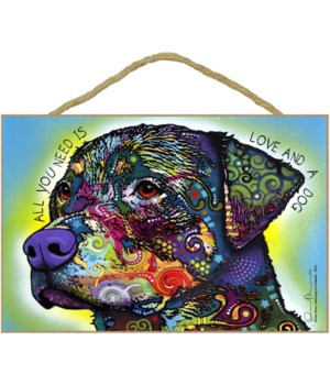 Rottweiler - All you need 7x10 Russo