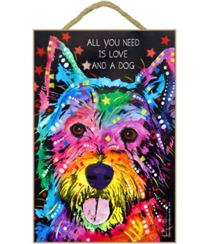Westie - All you need 7x10 Russo