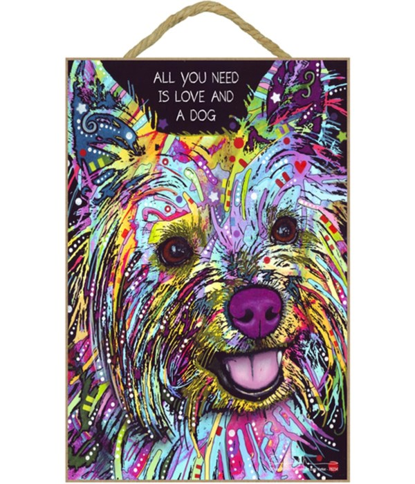 Yorkie - All you need 7x10 Russo