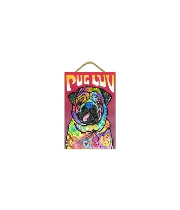 Pug - Pug Luv 7x10 Russo