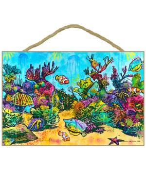 Fish w/Coral (H)  Dean Russo 7x10.5