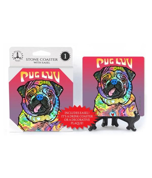 Pug - 2 - Pug Luv  coaster 1-pack