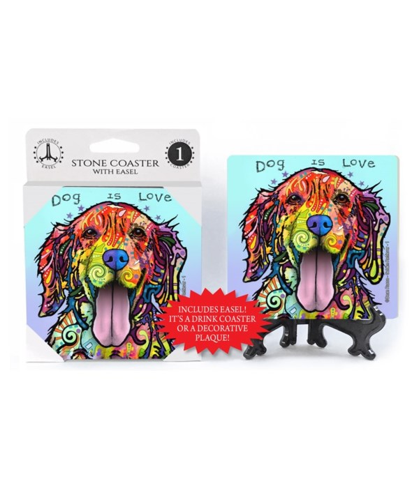 Golden Retriever - 1 - Dog is love  coas