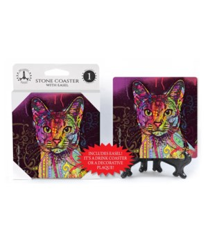 Cat - Abyssinian  coaster 1-pack
