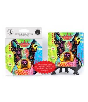 Boston Terrier - 3 - Crowned  coaster 1-