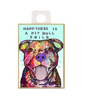 Pitbull - Happiness is a Pitbull smile M