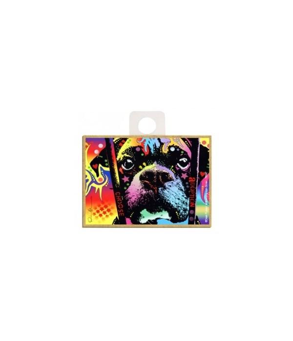 Boxer - Choose adoption Magnet