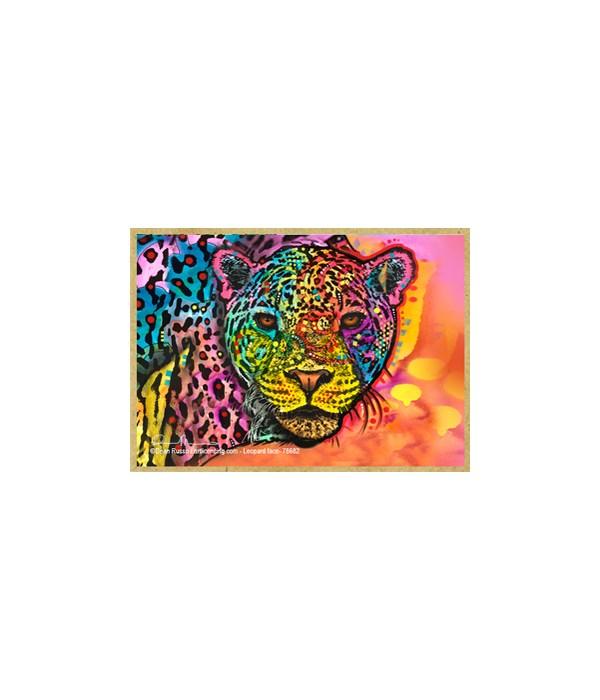 Leopard face  (H) Dean Russo Magnet