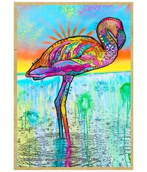 Pink Flamingo (V)   Dean Russo Magnet