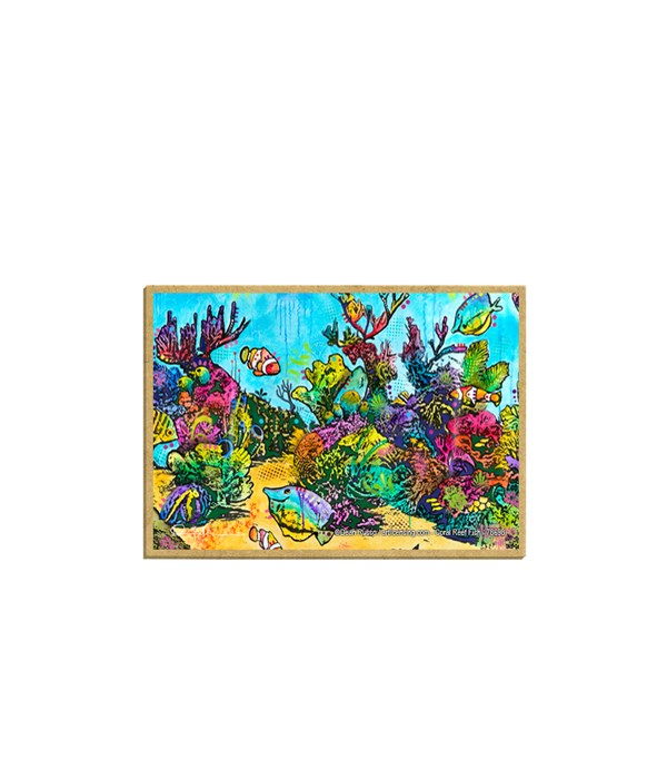 Fish with coral  (H)  Dean Russo Magnet