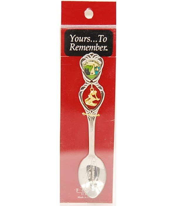 *New Hampshire Demi Spoon w/Skier Dangle