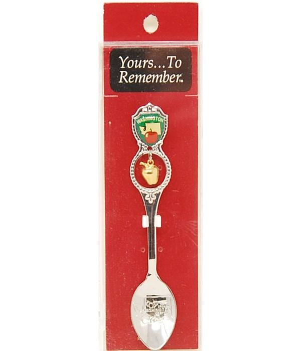 *Washington Demi Spoon w/Apple Dangle
