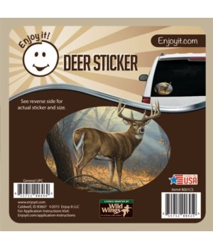 Whitetail Deer Full Scene Color Car Stic