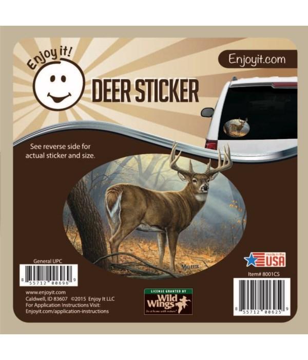 Whitetail Deer Full Scene Color Car Stic