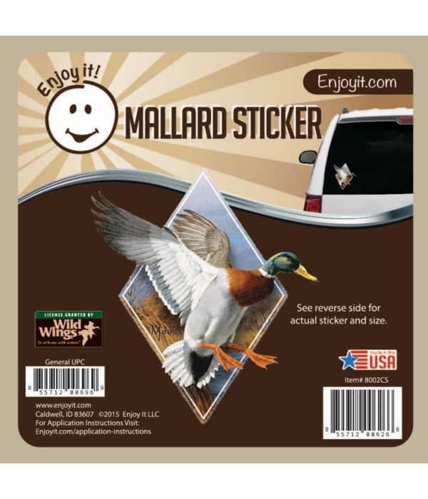 Mallard (Diamond) Full Color Car Sticker