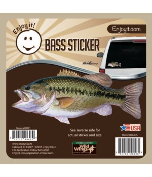 Largemouth Bass Full Color Car Sticker