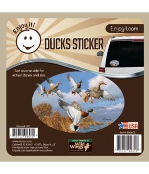 Ducks Scene Car Sticker