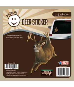 Whitetail Jumping Car Sticker