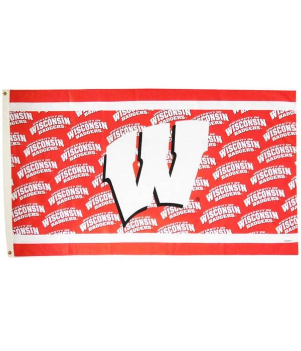 U-WI Flag 3x5 Wrap