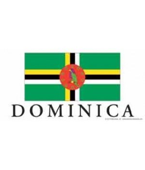 Dominica 4x8 Car Magnet