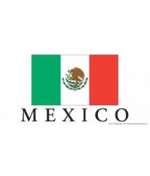 Mexico flag - with MEXICO underneath it.
