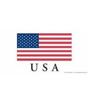 USA flag - has the US flag, with USA bel