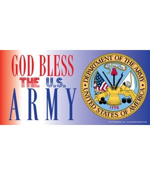 God Bless the U.S. Army (with picture of