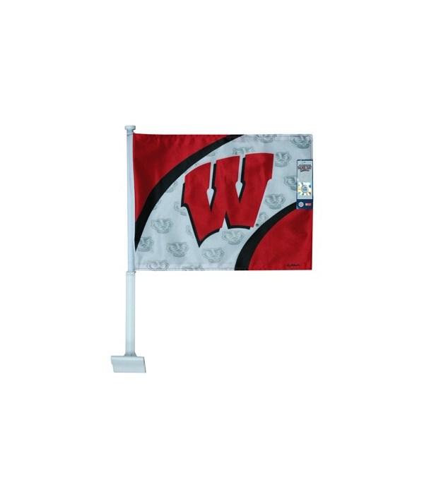 U-WI Car Flag Logo & Name 20x14