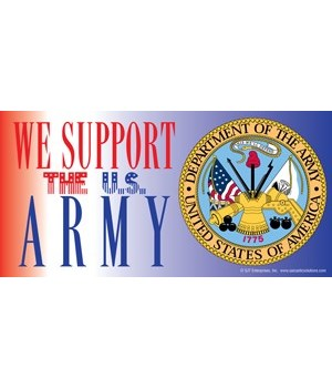 We support the U.S. Army (with picture o