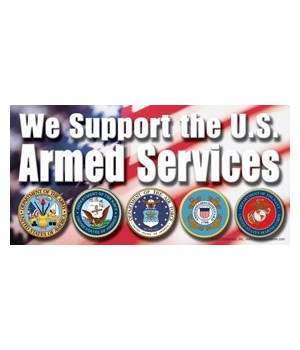 We support the U.S. Armed Services (with