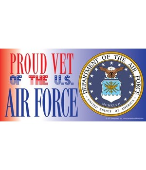 Proud Vet of the U.S. Air Force (with pi