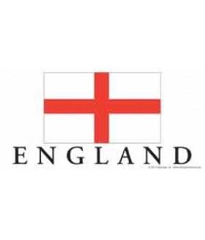 England 4x8 Car Magnet