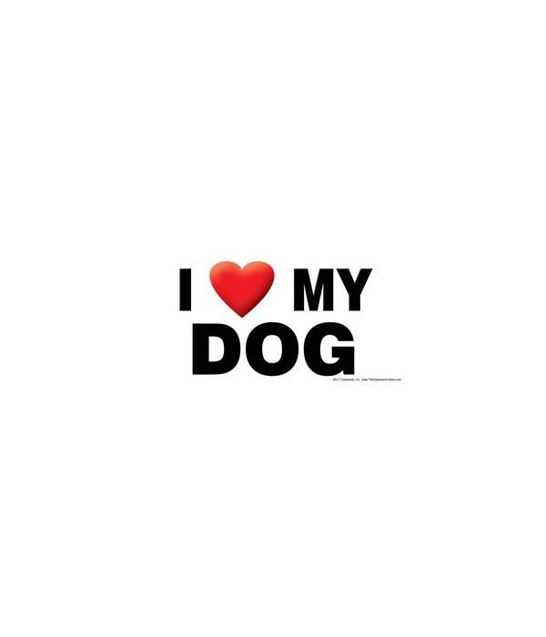 I (heart) my Dog 4x8 Car Magnet