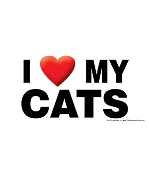 I (heart) my Cats 4x8 Car Magnet