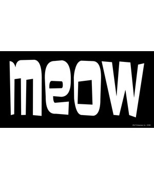 MEOW 4x8 Car Magnet