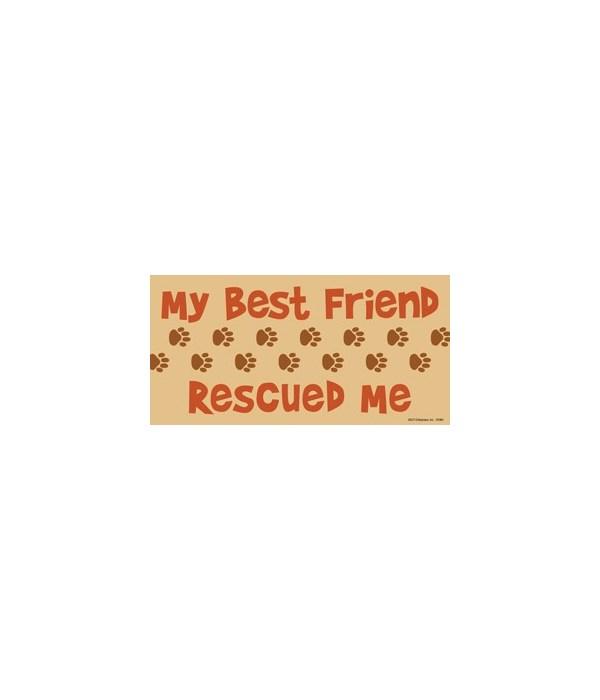 My Best Friend Rescued Me 4x8 Car Magnet