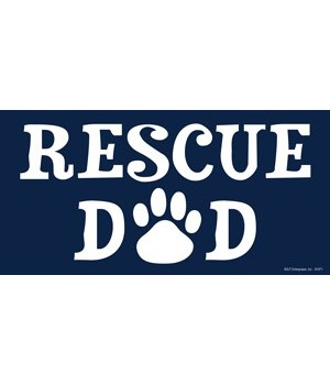 Rescue Dad 4x8 Car Magnet