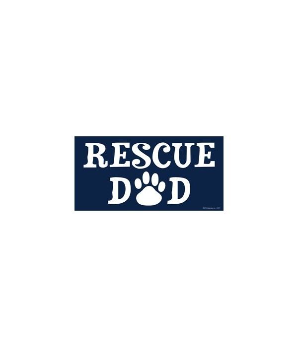 Rescue Dad 4x8 Car Magnet