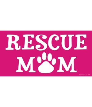 Rescue Mom 4x8 Car Magnet