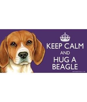 Keep Calm and Hug a Beagle 4x8 Car Magne