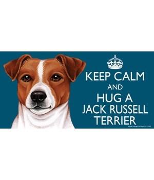 Keep Calm and Hug a Jack Russell 4x8 Car